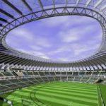Uno stadio di calcio in plastica, sicuro e green