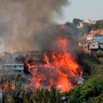 Un incendio distrugge Valparaiso, citta' del Cile