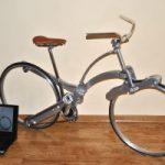 Ecoinvenzioni: la bici pieghevole senza raggi che si mette nello zaino