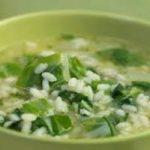Ricetta, riso verde