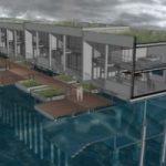 Contro il rischio idrogeologico, la casa anfibia che galleggia sul Tamigi