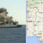 Nave da crociera italiana in fiamme