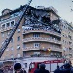 Crolla palazzo a Roma: tragedia sfiorata (video)