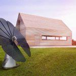 Un pannello solare che si apre come un fiore