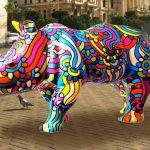 Un esercito di rinoceronti colorati per salvare la specie