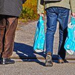 25 diverse borse in plastica
